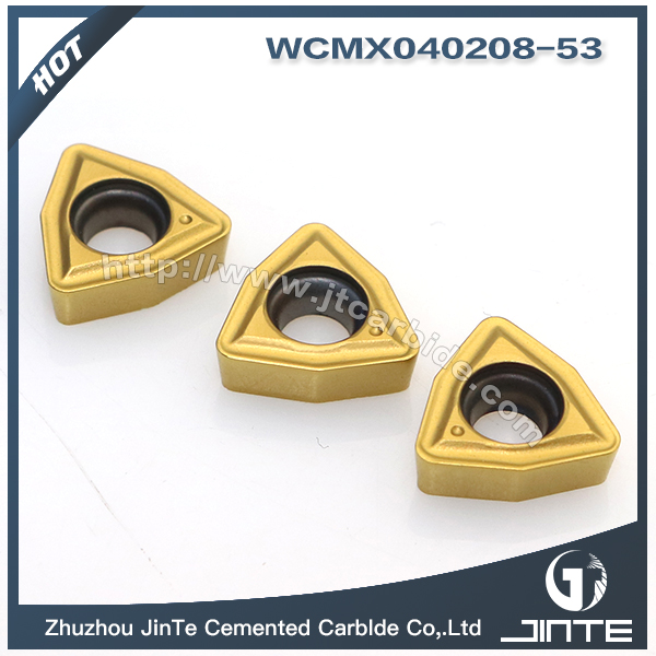 Waterjet Drilling Inserts CNC Carbide inserts cutting Tools WCMX040208-53 1020