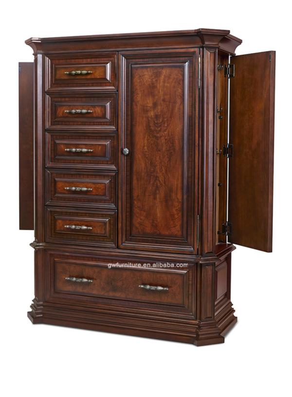 Meilleure vente de meubles de style am ricain classique en bois massif couleur sombre chambre - Chambre a coucher style americain ...