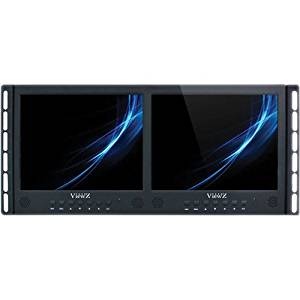 "ViewZ VZ-097RCR-D Dual 9.7"" Rack-Mountable LED CCTV Monitors"