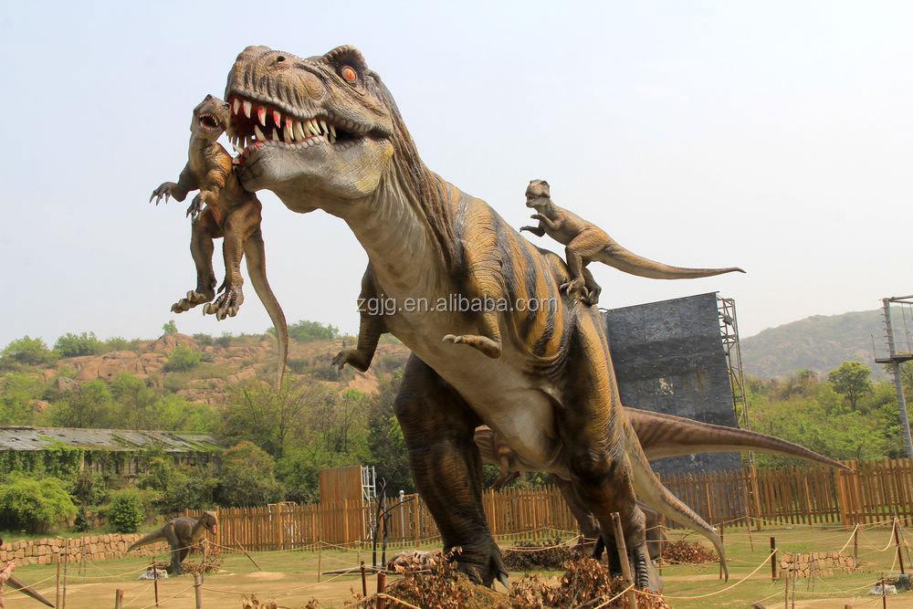 Jurassic Park Life Size Fighting T Rex Dinosaur Buy Life