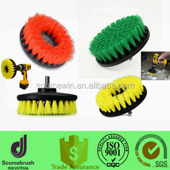 Factory Round Power Scrubber Tile Floor Cleaning Brush For Drill