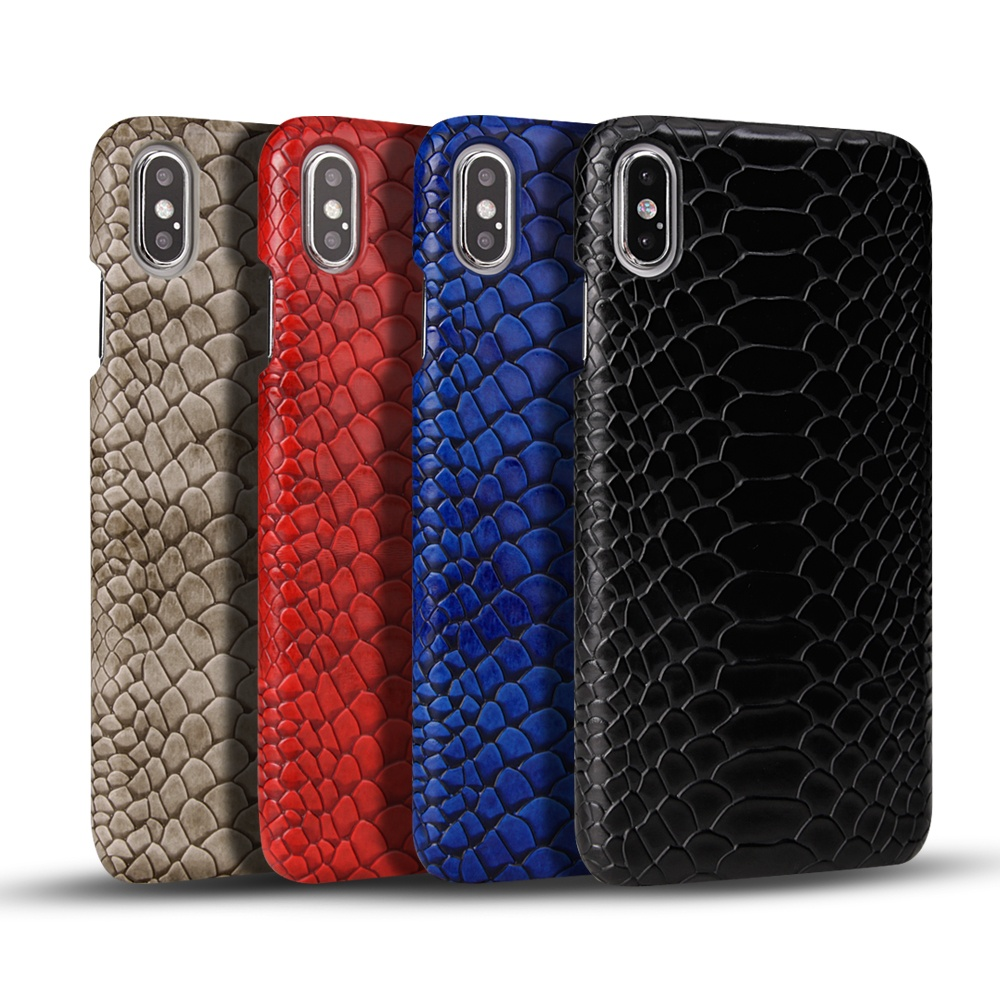 Snake Skin Mobile Phone Leather Case