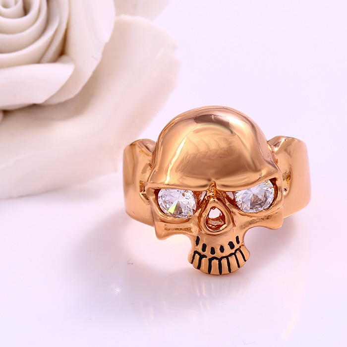 12179 Xuping jewellery mens jewelry, Stunning men's ring, Polishing Unisex Brass skull ring