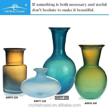 Mouthblown Tall Murano Color Glass Vasehome Decoration Itemshome