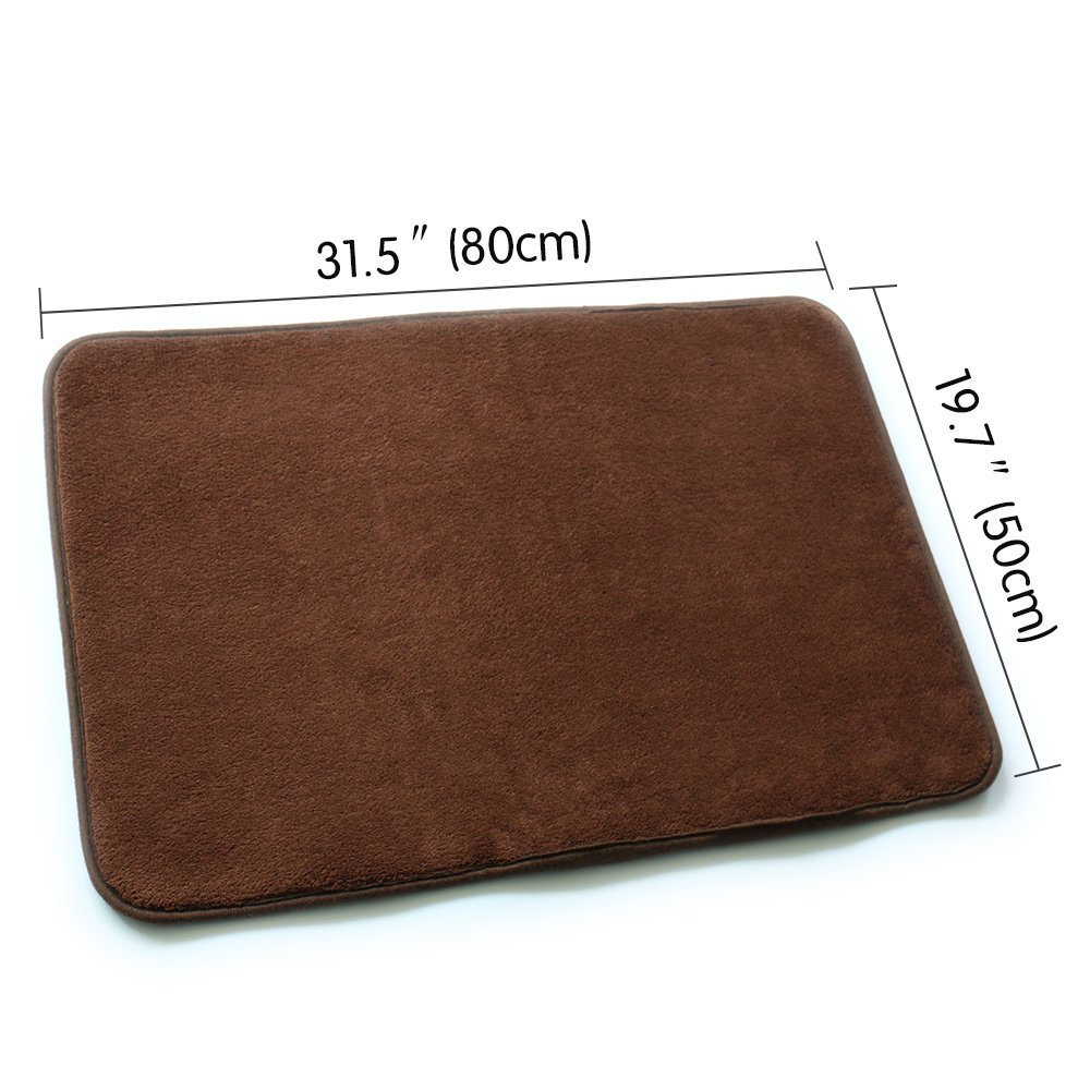 Nicedeco Comfortable Rug Approx. 50*80cm Coralon Leather Wholesales Price Color Coffee Flexible/Soft/Smooth Carpet/Mat/Rug Suitable For Stairway/Toilet/Study/Floor/Bedroom/Living Room/Bathroom/Kitchen/Home Decoration/Area