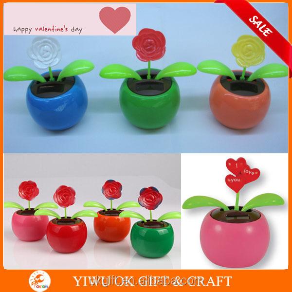 Solar Toys Valentine : Valentijnsdag schudden zonne speelgoed bloem flip flap