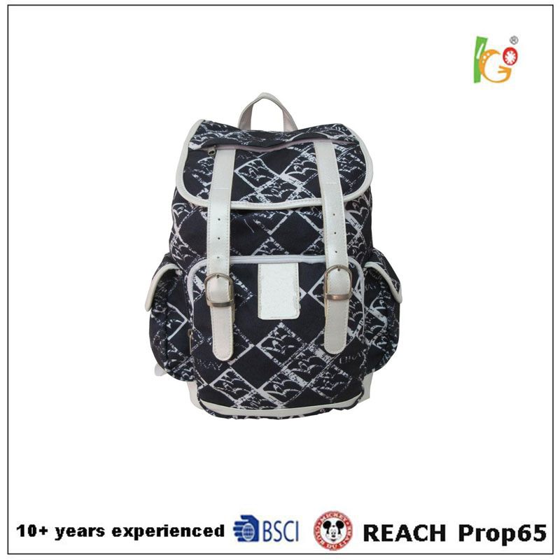 New Style Fashion Canvas Backpack Satchel Bags for Woman