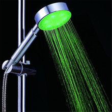 Wholesale 3 colors led light bathroom led shower heads at home ...