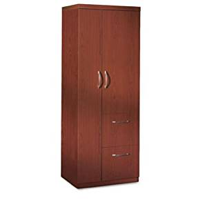 Mayline Aberdeen Personal Storage Tower, 2 Shelves, 24 X 24 X 68-3/4, Cherry (MLNAPST2LCR) Category: Wood Storage Cabinets