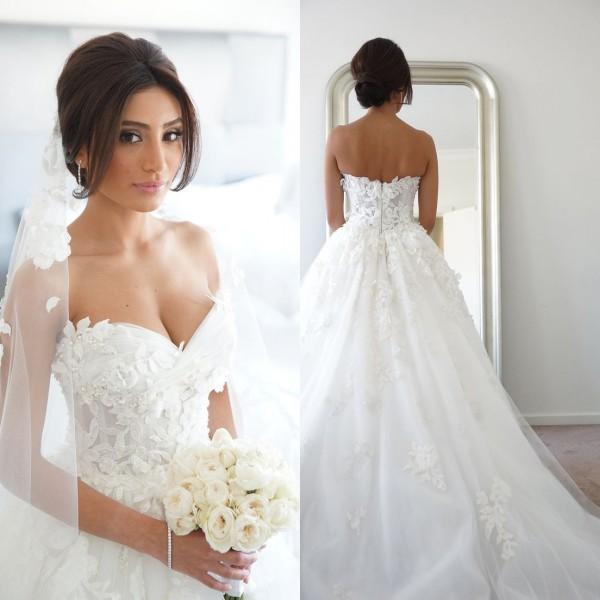 20 Elegant Simple Wedding Dresses Of 2015: 2015 Simple Tulle Wedding Dresses Elegant Court Train