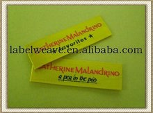 embroidered thread made woven labels for clothing