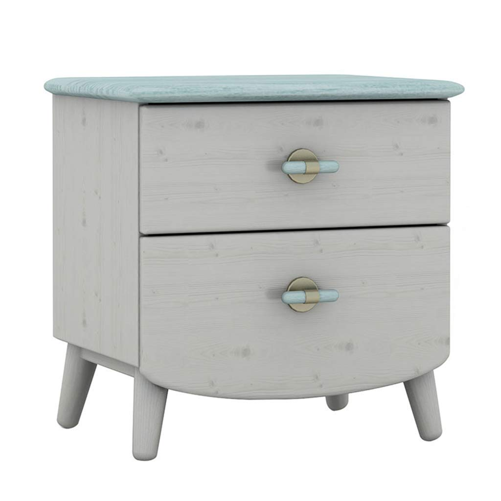 Bedside table GJM Shop Solid Wood Simple Bedside Cabinet Lockers Storage Cabinet Bedroom Furniture (Color : 2, Size : 43.94251.9cm)