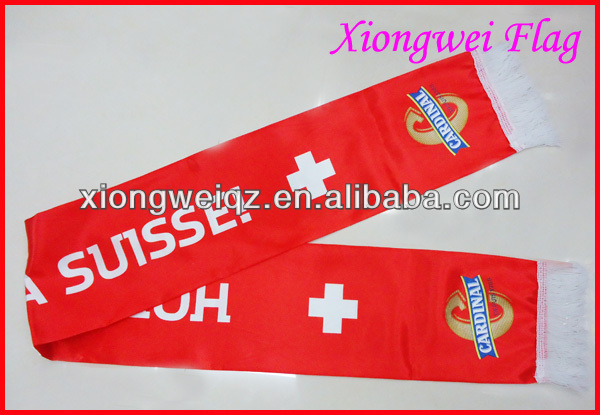 custom CARDINAL printed cheap promotion scarf