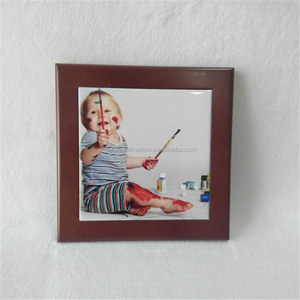 picture photo frame with sublimation tile, decorative tile frame,funia photo frame