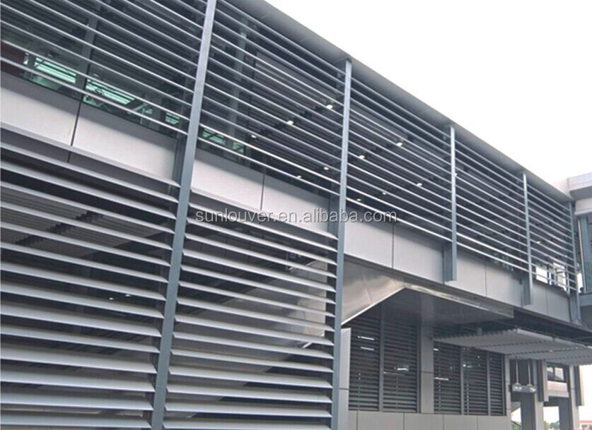 Exterior Aluminum Louvered Window Aluminum Wall Cladding