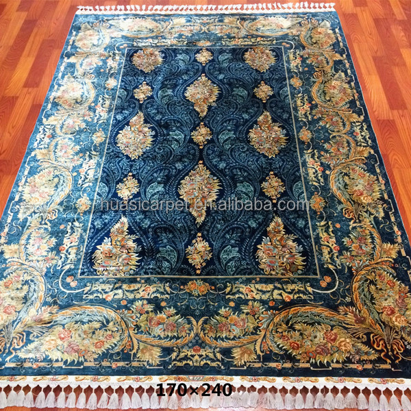 cool bleu whosale prix rugxcm de luxe oriental chinois tapis de soie with tapis d orient pas cher. Black Bedroom Furniture Sets. Home Design Ideas