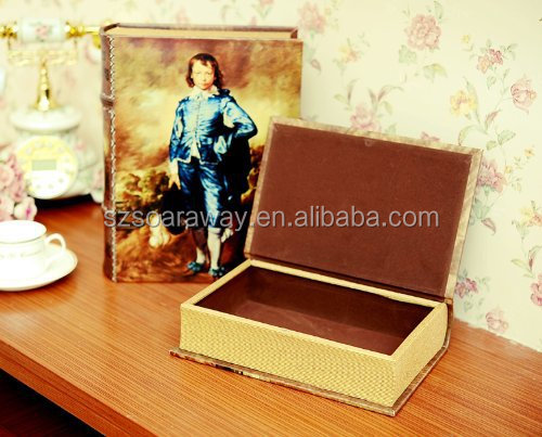 Decorative Wooden Storage Boxes With Lids,Fake Book Shape Wooden ...