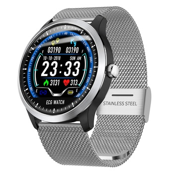 2019  N58 ECG PPG smart watch  3D UI with ecg electrocardiograph holter display heart rate monitor blood pressure