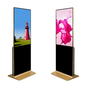 55 inch screen full HD floor standing digital signage kiosk indoor advertising player display for hotel bank shopping mall