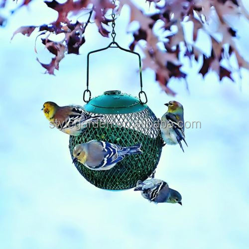 Wonderful Garden Metal Hanging Ball Bird Wild Pet Feeder Seed Food Proof