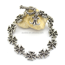Hot Time Fashion Cross Stainless Steel Bracelet b002769