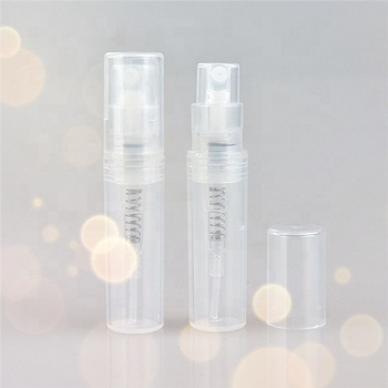 Biodegradable plastic perfume sample spray bottle