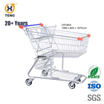 cheap price supermarket shopping cart large capacity shopping trolley
