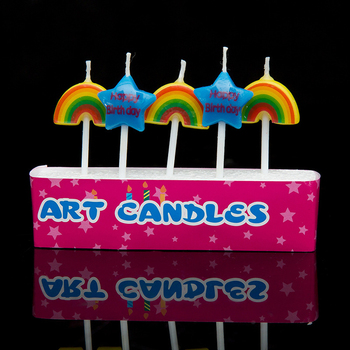Rainbow Smokeless Birthday Cake Candle Sparklers