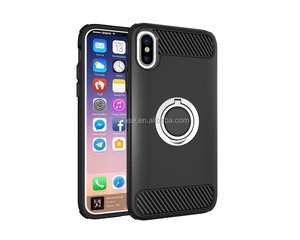 China phone case manufacture innovation goods 2017 magnetic car holder armor mobile back cover for iphone x case