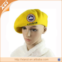 yellow headwear woman beret