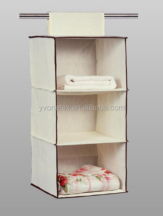 Fashion Big Folding Fabric Wall Hanging Storage Organizer For