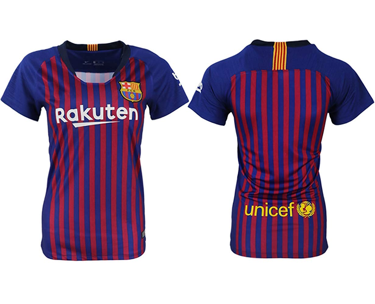 70dec22f9dd Get Quotations · Custom Name Number Barcelona 2018-2019 Women s Football  Team Uniform
