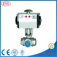 pvc upvc true union electric actuator 3 way ball valve