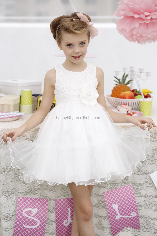 Último Diseño Blanco Vestido De Novia Para Las Niñas De 7 Años - Buy ...
