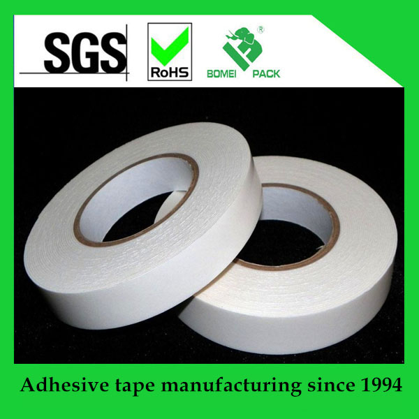Free sample 90 mic hot melt/solvent/acrylic Tissue paper double sided adhesive tape for fixing