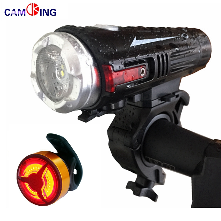 Bicycle Front Light and Back tail Light Set, USB Rechargeable COB LED Rear Light,quick release mounting strap