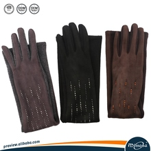 Fashion Dress Long Faux Suede Leather Glove