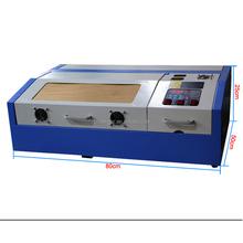 HT 40w rubber stamp machine price/acrylic laser engraving cutting machine