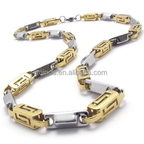 Beste Sieraden Roestvrij Staal Kleur Goud Zilver Heren Ketting Link DG-64