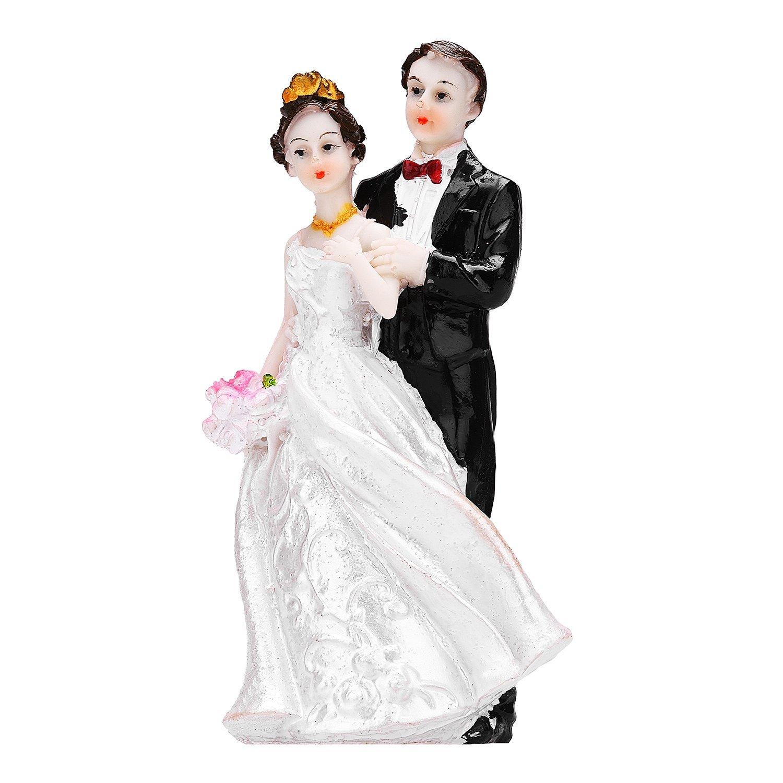 TtoyouU Wedding Couple Cake Topper Bride and Groom Cake Topper Couple Figurine