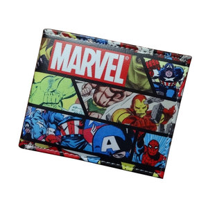 Comics DC Marvel Wallets Men Women Super Hero Anime Purse Creative Gift Fashion Leather Bags Carteira Masculina