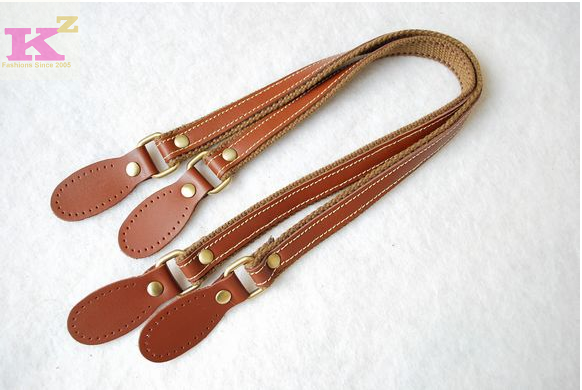 b7f2350fe58f Buy 45-47cm genuine leather strap double layer handle bag handle handle  handmade webbing handle with leather patch in Cheap Price on Alibaba.com
