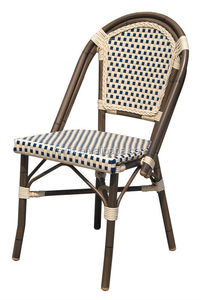 Garden wicker alumimium imitation bamboo chairs and tables