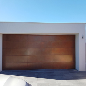 Water automatic garage sliding doors with round window