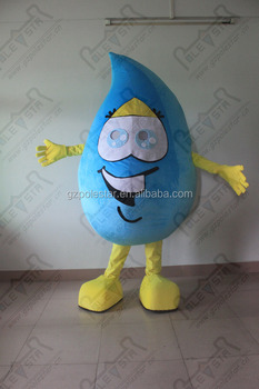 happy face water drop mascot costumes