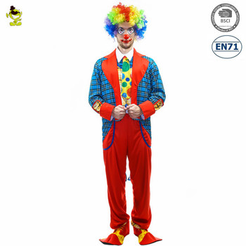 Halloween funny clown joker costumes men party cosplay - Circo joker immagini bambini ...
