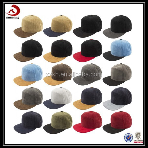 China Suppliers Custom Suede Baseball Cap Two Tone Snapback ...