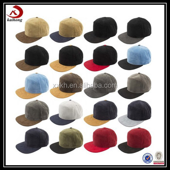 China Suppliers Custom Suede Baseball Cap Two Tone Snapback ...