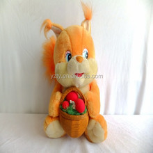 lovely Custom plush squirrel toy decorations