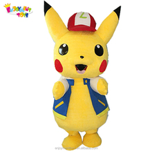 Professional cartoon character costumes used pikachu mascot costumes for sale EM-01